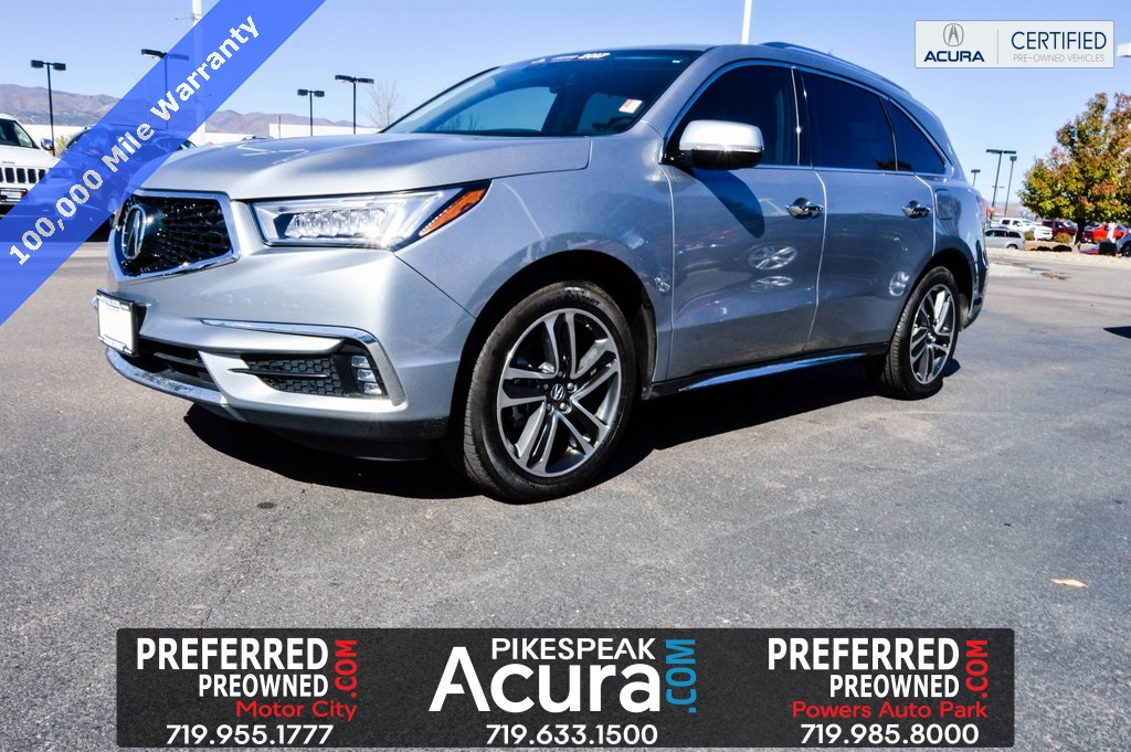 Certified Pre Owned 2017 Acura Mdx Sh Awd With Advance Package 4d